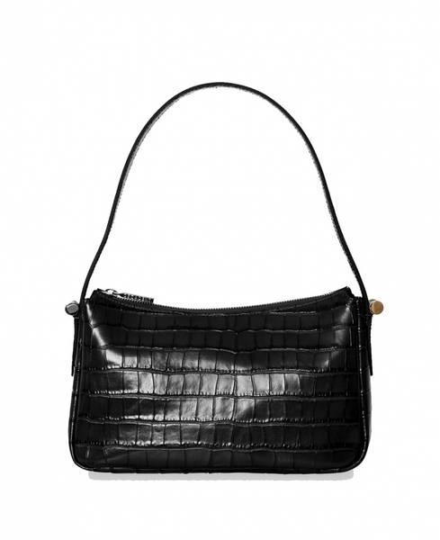 Decadent Janine Baguette Bag Croco Black